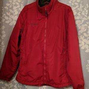 Columbia jacket, red sz lrg